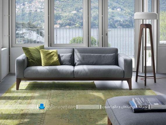 کاناپه راحتی شیک و ساده با رنگ طوسی
