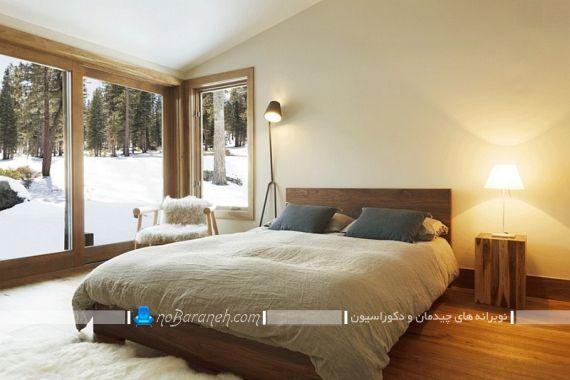 مدل سرویس خواب چوبی شیک و مدرن. دکوراسیون دیزاین تزیین شیک مدرن اتاق خواب با کفپوش چوبی. ایده های تزیینی شیک اتاق خواب 2019 2020 2021