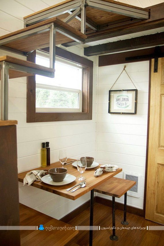 میز ناهارخوری کوچک چوبی. میز و صندلی کوچک چوبی برای ناهار خوری در فضای کوچک و کم. مدل های جدید میز ناهارخوری دو نفره شیک چوبی مدرن فانتزی کم جا کمجا