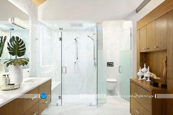 مدل کمد های چوبی برای حمام و دستشویی