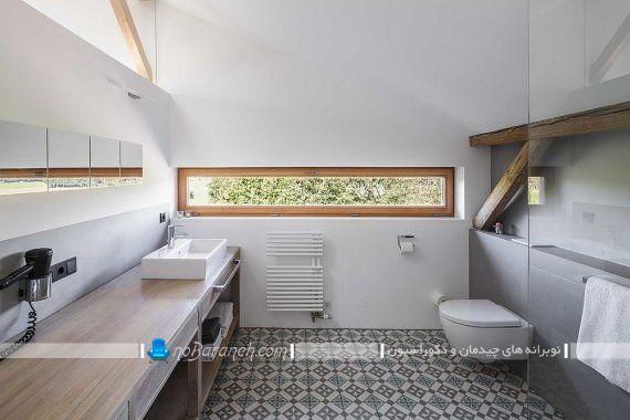 تزیین مدرن و شیک سرویس بهداشتی با رنگ سفید