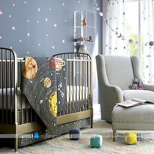 تخت خواب نوزاد با بدنه فلزی و ارزان قیمت