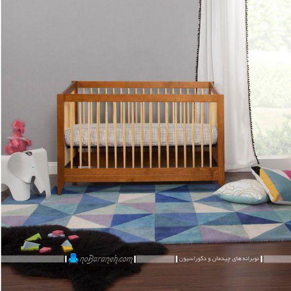 تخت خواب نوزاد با جنس چوبی ارزان قیمت