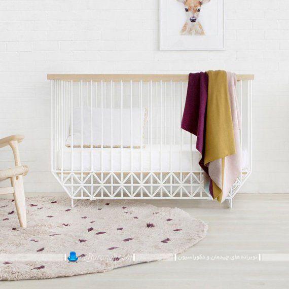 تخت خواب نوزاد با طراحی نیمه فانتزی