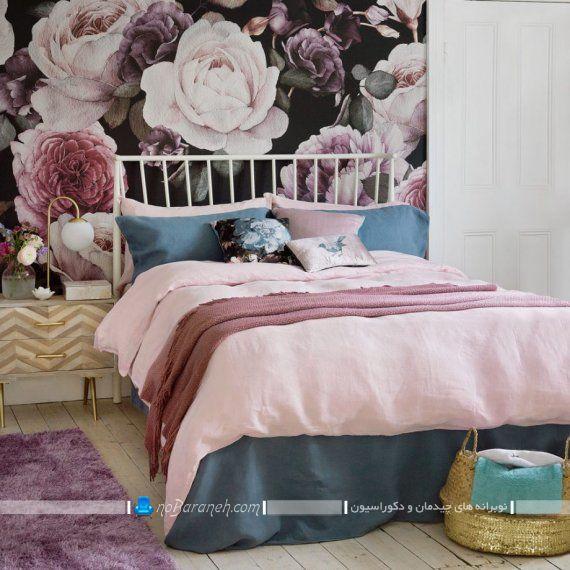 فرش بنفش رنگ برای تزیین ارزان قیمت اتاق خواب