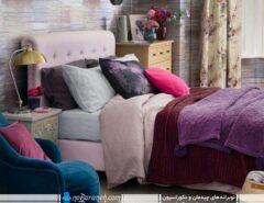 دکوراسیون اتاق خواب رنگ بنفش (6)
