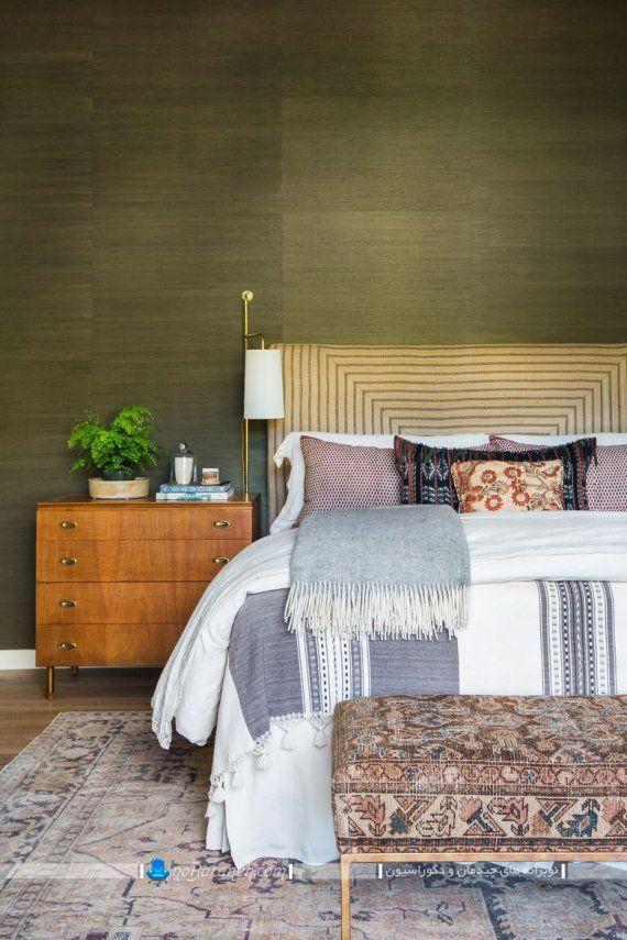 رنگ آمیزی و تزیین اتاق خواب با رنگ سبز