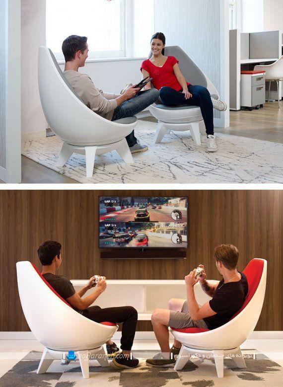 صندلی راحتی تکان خور از نوع راک. مدل های جدید صندلی و مبل گهواره ای شیک و مدرن. صندلی راک و گهواره ای با نشیمن طبی