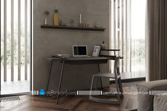 میز تحریر چوبی و ارزان قیمت با پایه های فلزی. مدل جدید میز تحریر با صفحه چوبی
