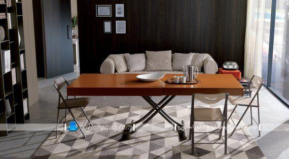 میز جلو مبلی قابل تبدیل به میز ناهارخوری