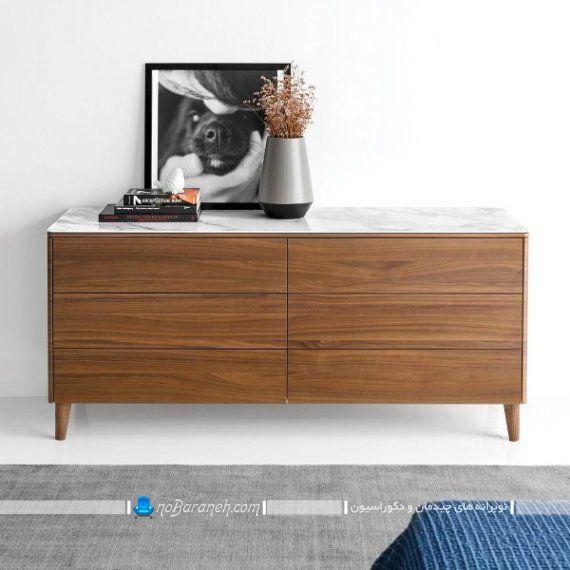 مدل دراور چوبی ساده. مدل دراور ام دی اف بزرگ و جادار برای دکوراسیون اتاق خواب. طرح های شیک و جذاب دراور و کمد لباس و کنسول چوبی