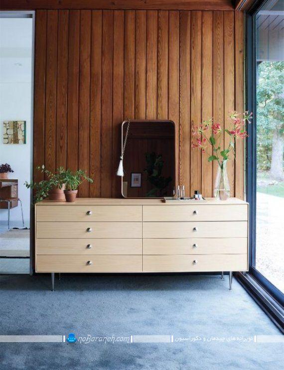 دراور بزرگ هشت 8 کشو. دراور چوبی شیک و بزرگ آینه دار در مدل های جدید و مدرن و فانتزی برای دکوراسیون اتاق خواب یا اتاق پذیرایی