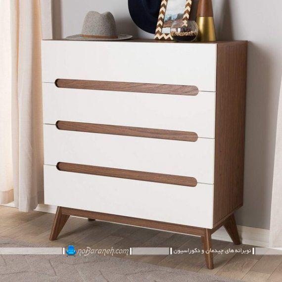 دراور شیک و مدرن چوبی. طرح جدید کنسول و دراور چوبی شیک و فانتزی. مدل جدید کمد لباس کشودار برای اتاق خواب پذیرایی