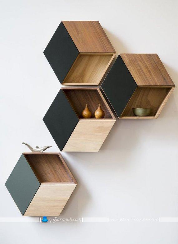 مدل های مدرن شلف چوبی و تزیینی زیبا برای دکوراسیون منزل. تزیین دیوارهای داخلی منزل با شلف و باکس چوبی دکوراتیو تزیینی مدرن شیک