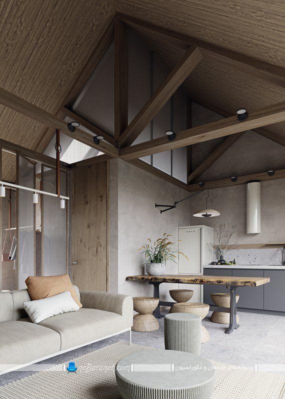 دکوراسیون چوبی و شیک منزل 60 متری