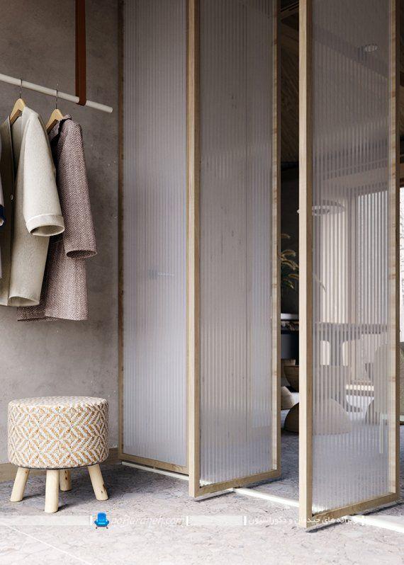 درب چوبی و شیشه ای برای داخل منزل