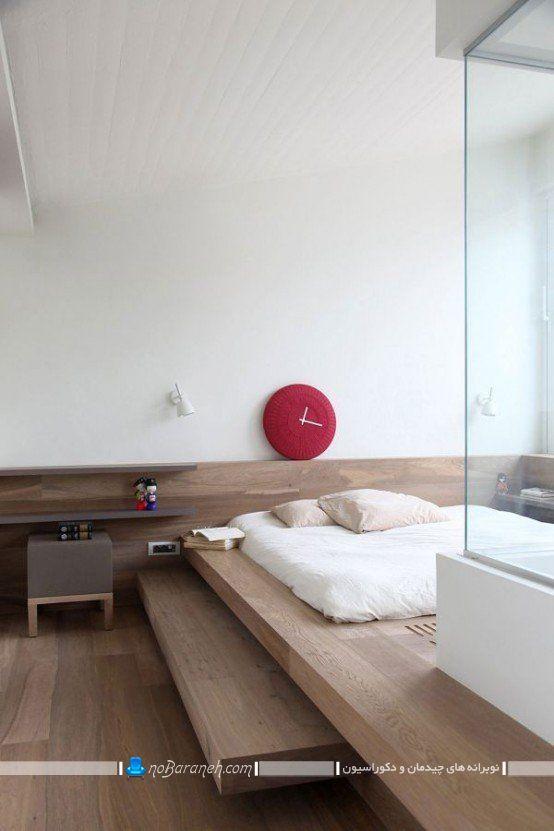 دکوراسیون چوبی اتاق خواب شیک مدرن. مدل سرویس خواب ارزان قیمت دو نفره برای اتاق عروس.