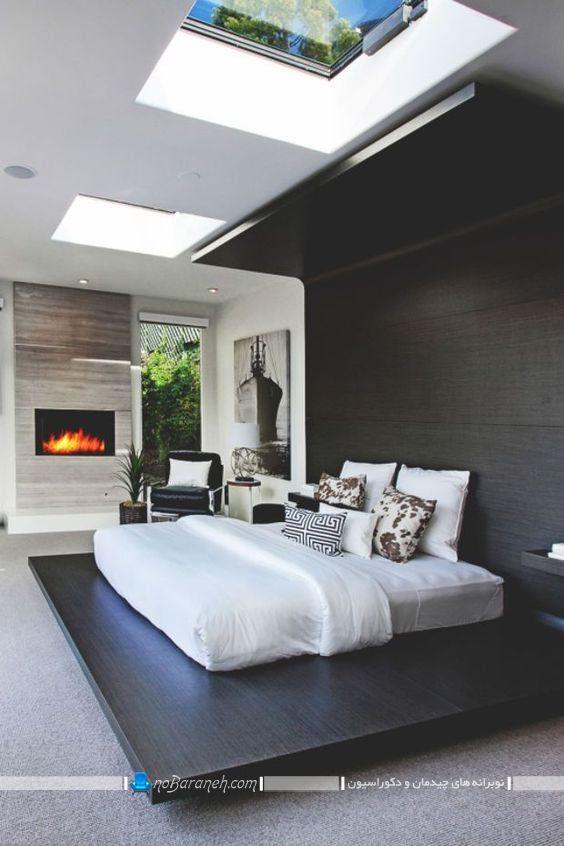 مدل اتاق خواب دوبلکس. مدل جدید سرویس خواب عروس و داماد. دکوراسیون چوبی اتاق خواب شیک مدرن با طرح و دیزاین زیبا