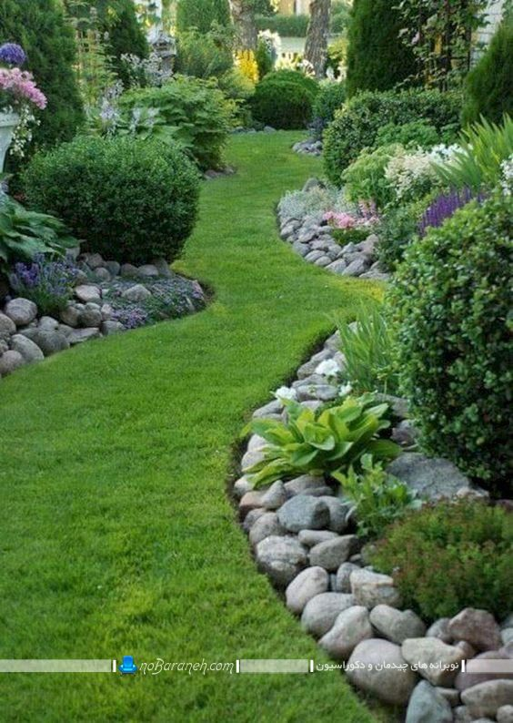 تزیین باغچه حیاط خانه ویلایی