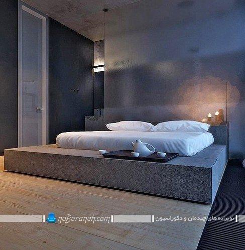 مدل های نصب و چیدمان تخت خواب و سرویس خواب عروس در اتاق خواب. مدل جدید تخت خواب چوبی مدرن و شیک دو نفره