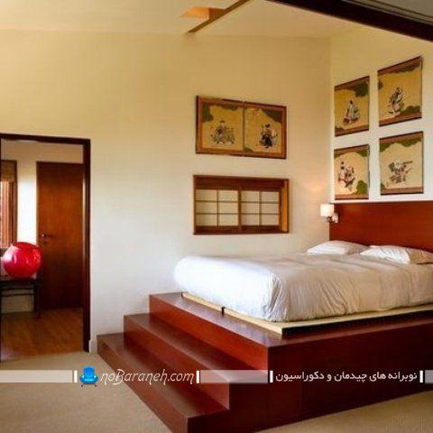 طراحی اتاق خواب دوبلکس با پله چوبی