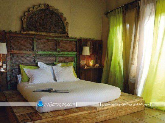 طراحی اتاق خواب دوبلکس کلاسیک. مدل های دکوراسیون سنتی اتاق خواب با چوب و تخته. مدل تخت خواب ارزان قیمت چوبی و کلاسیک