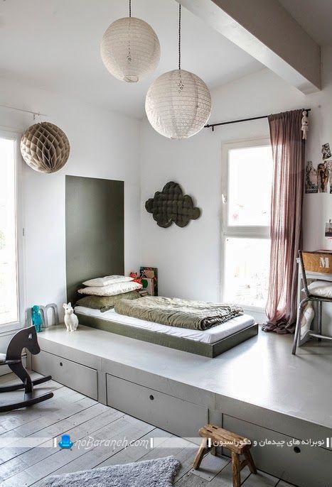 اتاق خواب نیمه دوبلکس. ایده های خلاقانه برای فضاسازی در اتاق خواب کوچک تک نفره. دکوراسیون شیک و مدرن اتاق خواب