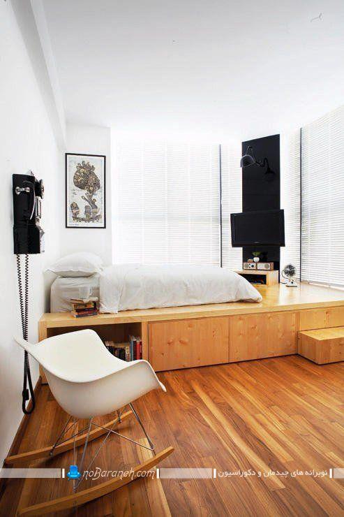 تخت خواب تک نفره دوبلکس اتاق خواب