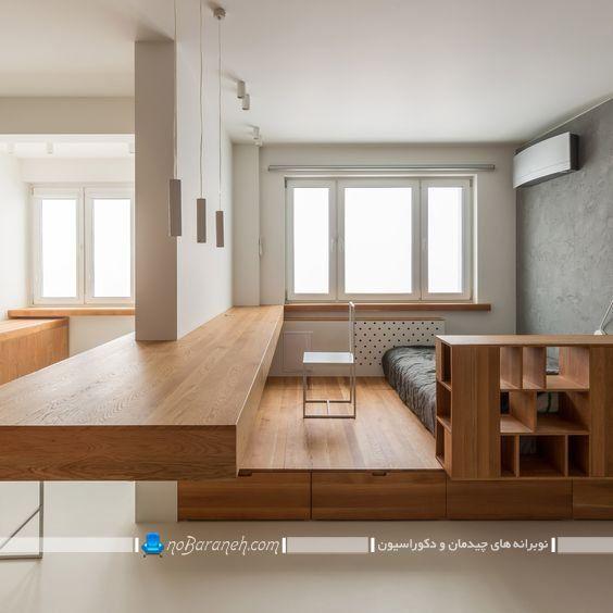 دوبلکس کردن چوبی اتاق خواب با قیمت ارزان و امکان فضاسازی. طراحی دکوراسیون چوبی اتاق خواب دوبلکس. کفپوش چوبی شیک برای اتاق خواب و دوبلکس کردن اتاق با چوب