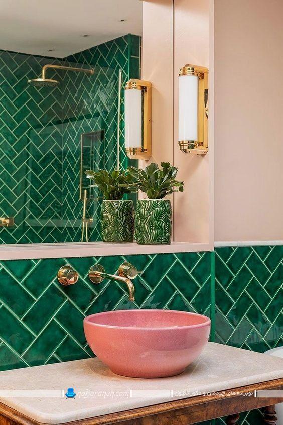 کاسه روشویی و دستشویی روکابینتی فانتزی و سلطنتی برای منزل عروس با طرح های جدید و مدرن. مدل جدید و شیک کاسه توالت