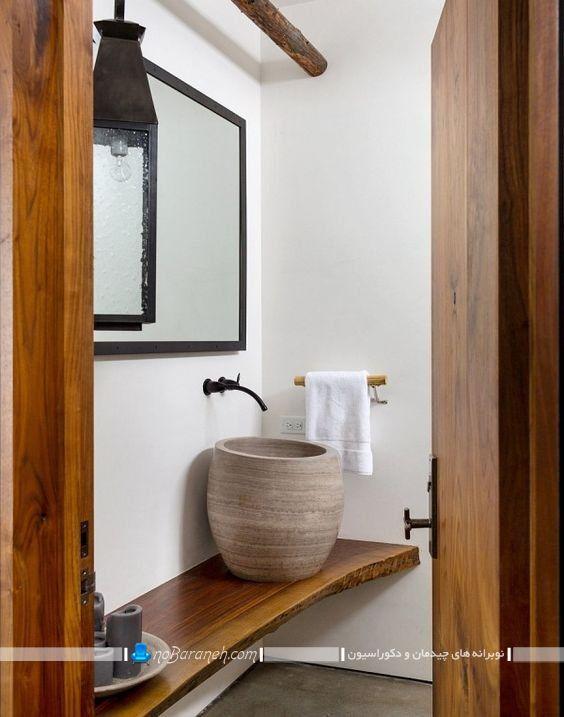 کاسه روشویی و دستشویی سنگی روکار رو کابینتی شیک عمیق ارتفاع دار در مدل های جدید شیک