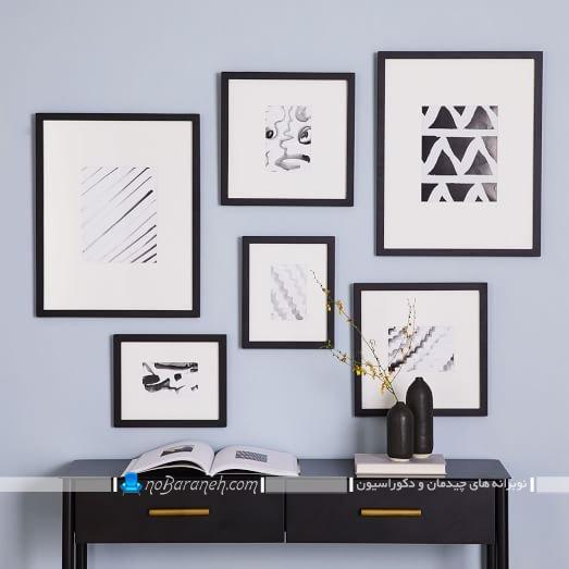 طرح های جدید قاب عکس شیک و مدرن دیواری برای تزیین دیوارهای داخلی منزل با هزینه کم و ارزان قیمت.