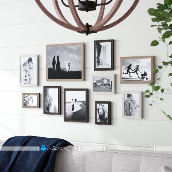 مدلهای چیدمان و نصب قاب عکس روی دیوار داخلی منزل. تزیین دیوارهای داخلی با تابلو های تزیینی و دکوراتیو شیک و مدرن