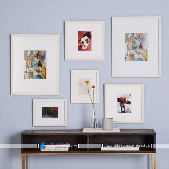 قاب عکس چوبی دکوراتیو چند تکه با طرح و تصویرهای زیبا و فانتزی آبستره مدرن جذاب برای اتاق پذیرایی و اتاق خواب