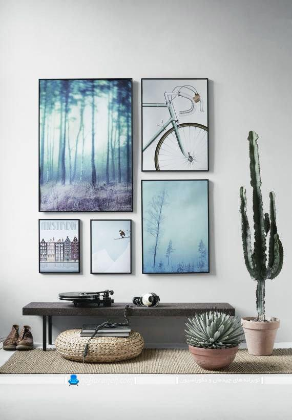 تزیین شیک دیوارهای داخلی با قاب عکس شیک فانتزی مدرن. تزیین اتاق پذیرایی و اتاق خواب با تابلوهای دکوراتیو شیک و مدرن