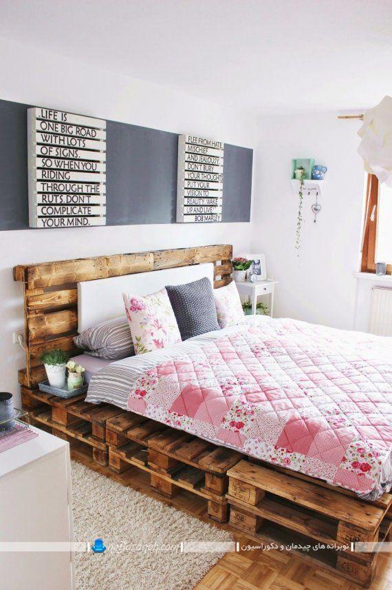 تخت خواب ارزان قیمت ساخته شده با چوب