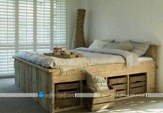 مدل سرویس خواب چوبی ساده و ارزان قیمت