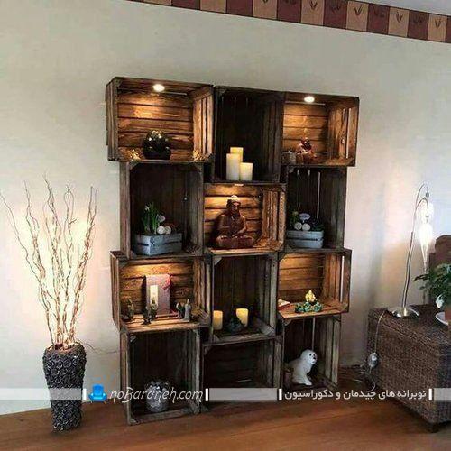 ایده ساخت شلف و باکس چوبی در خانه