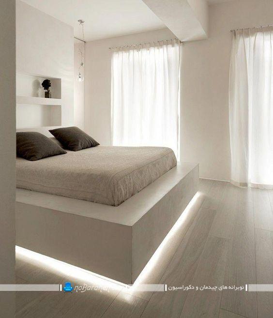 مدلهای تزیین و نورپردازی تخت خواب