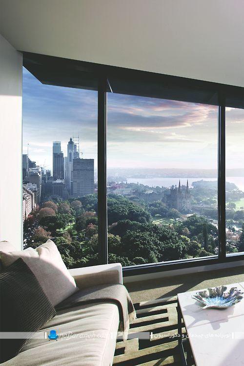 پنجره بزرگ و سه تکه برای ساختمان های برج مانند