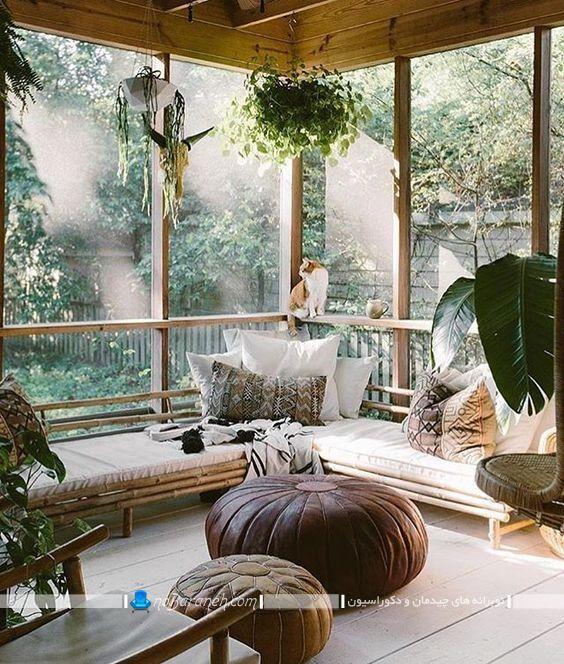 پنجره ویو ابدی برای آلاچیق باغی