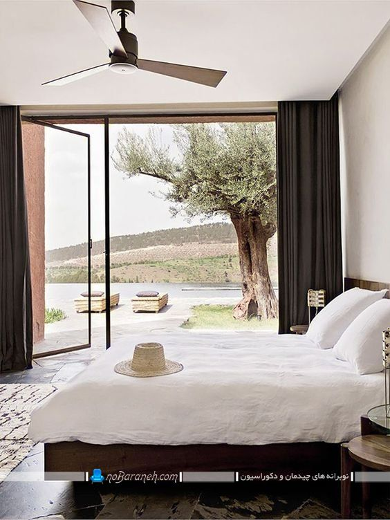 پنجره های بزرگ برای اتاق خواب