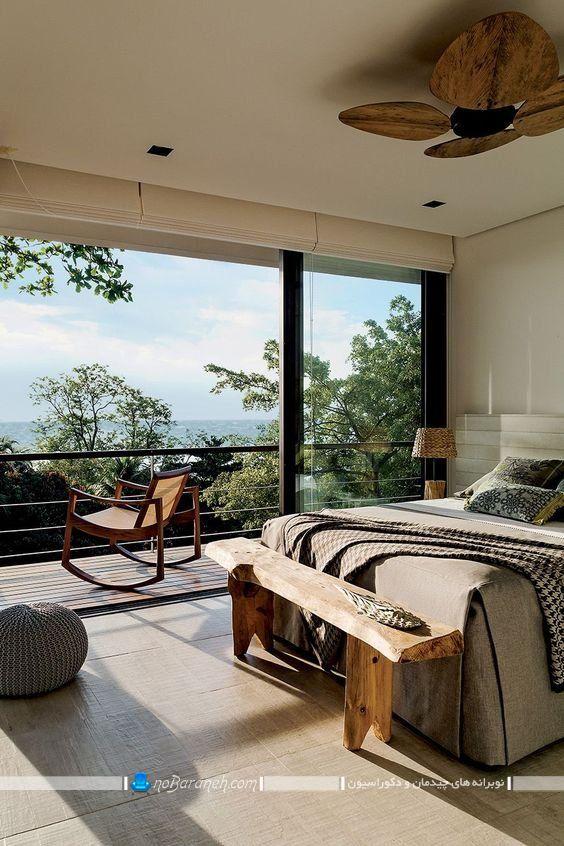 طرح جدید پنجره های بزرگ برای اتاق خواب