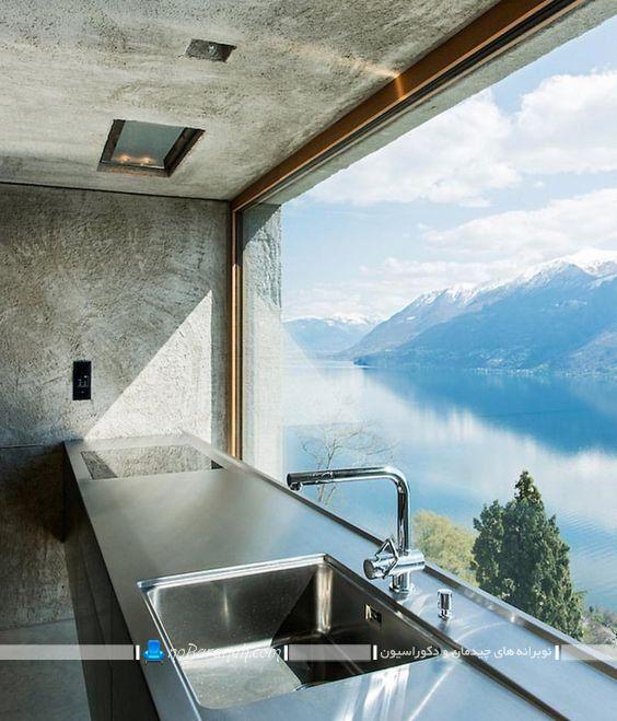 نصب پنجره بزرگ پانوراما در آشپزخانه