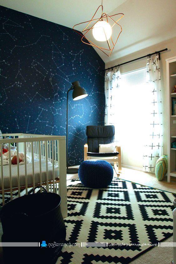 تزیین دیوار اتاق کودک با کاغذ دیواری