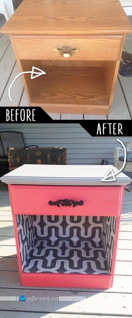 بازسازی میز پاتختی چوبی و قدیمی با هزینه کم و ارزان