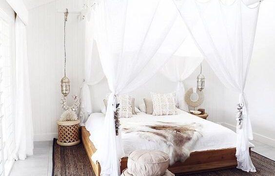 تخت خواب حجله دار سایبان دار عروس شیک و زیبا