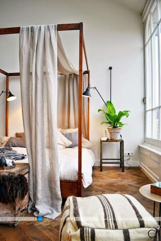 تور بالای تخت خواب عروس در مدل های کلاسیک و سایبان دار حجله ای طرح جدید و زیبا. مدل حجله چوبی برای تزیین تخت خواب عروس