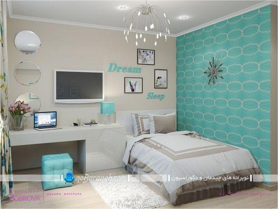 چیدمان و دکوراسیون اتاق خواب مربع شکل