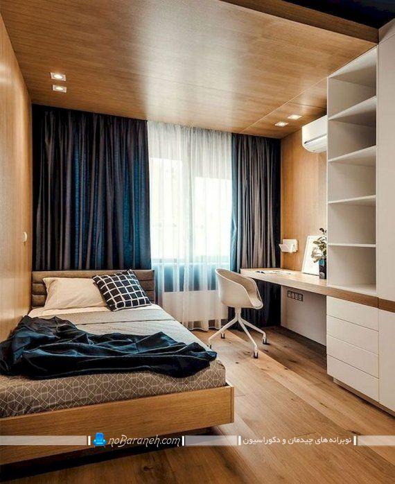 طراحی دکوراسیون چوبی اتاق خواب ، دیزاین چوبی مدرن و گران قیمت